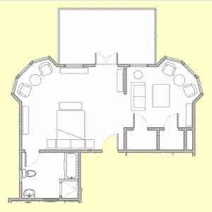 Room 101 floor plan