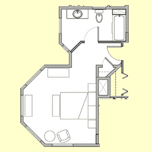 Room 104 floor plan