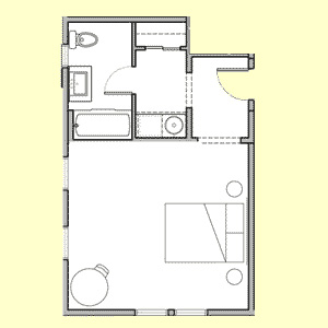 Room 105 floor plan