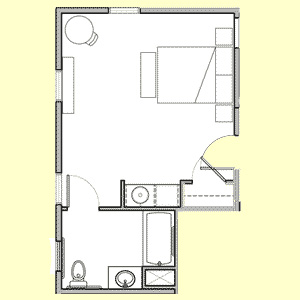 Room 106 floor plan