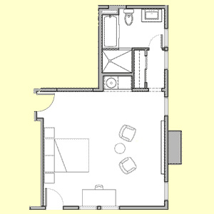 Room 108 floor plan